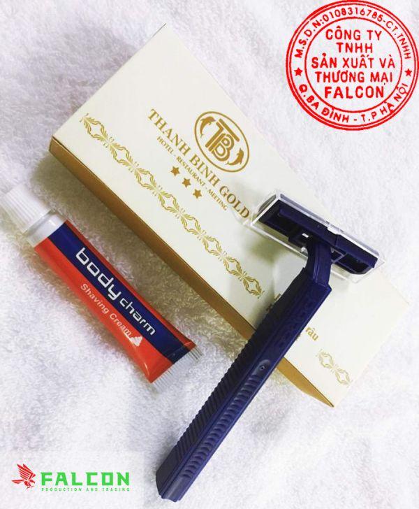 Bộ sản phẩm dao và kem cạo râu khách sạn cao cấp cho phòng tắm khách sạn