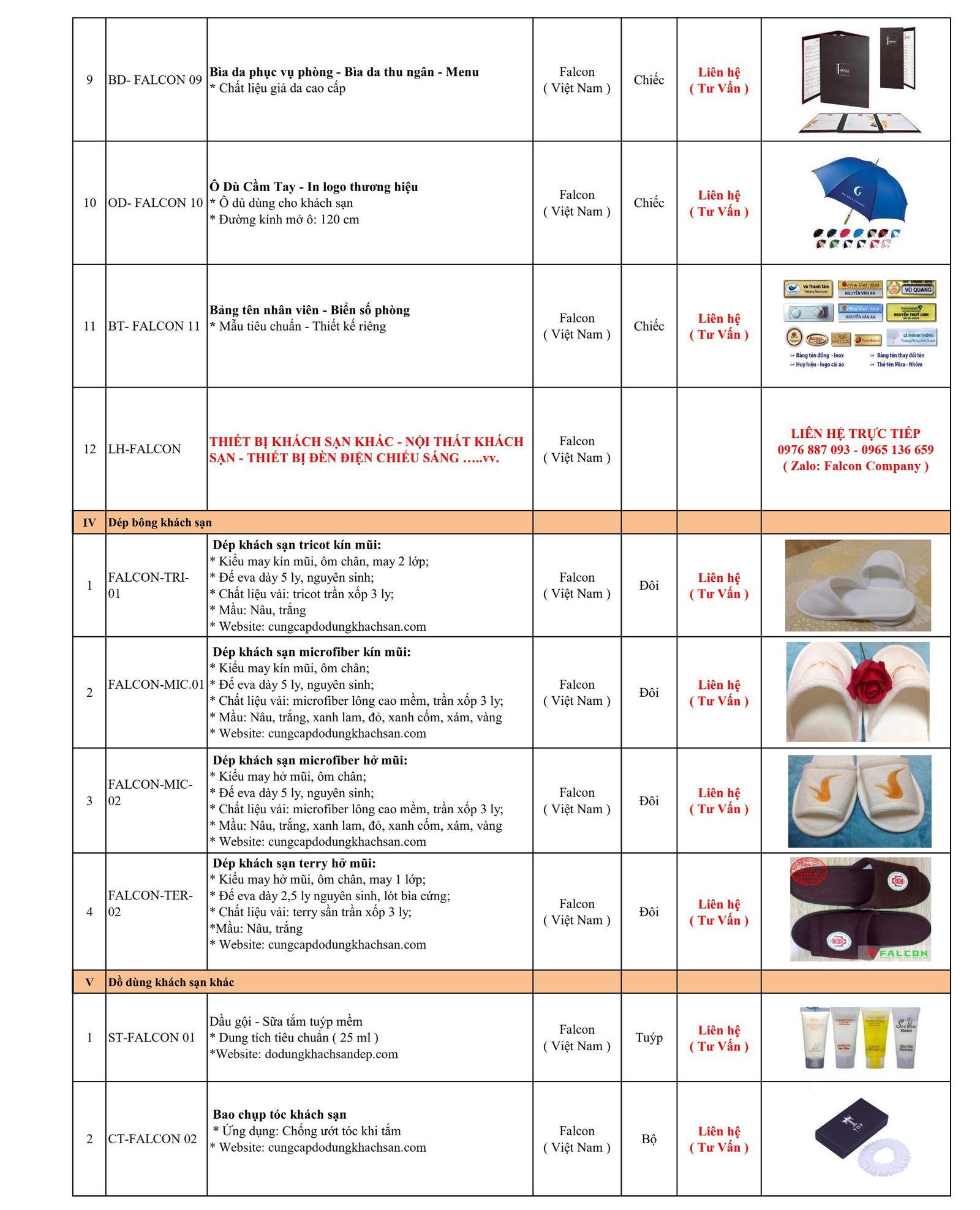 Báo giá dép khách sạn và các sản phẩm in ấn